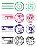 Cerchi e strisce di tecnologia Immagine Stock Libera da Diritti
