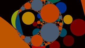 Cerchi ed anelli di colore illustrazione di stock