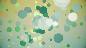 Cerchi giranti in vari colori illustrazione di stock