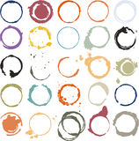 Cerchi grungy multicolori Immagine Stock