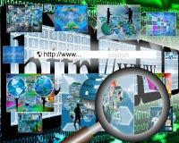 Cerchi il web Immagini Stock Libere da Diritti