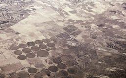 Cerchi irrigati del raccolto nel Nevada Fotografia Stock Libera da Diritti