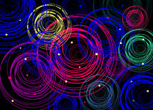 Cerchi multicolori Fotografia Stock
