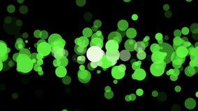 Cerchi nel colore verde sul nero illustrazione di stock