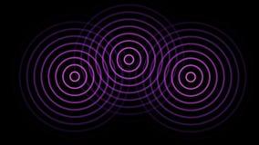 3 cerchi o onde radio che si irradiano fuori dal centro illustrazione vettoriale