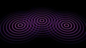 3 cerchi o onde radio che si irradiano fuori dal centro illustrazione di stock