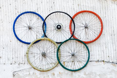Cerchi olimpici Fotografie Stock