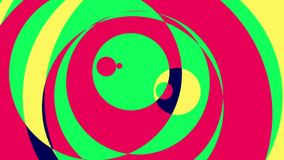 Cerchi psichedelici 1 ciclo grafico variopinto del fondo di //1080p video royalty illustrazione gratis