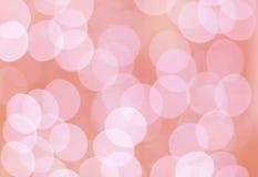 Cerchi rosa del bokeh Fotografie Stock