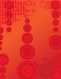 Cerchi rossi Fotografia Stock