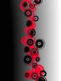 Cerchi rossi e neri di Grunge illustrazione di stock