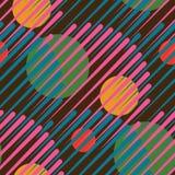 Cerchi senza cuciture, stampa geometrica 80s Immagini Stock