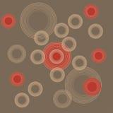 Cerchi su colore rosso Fotografia Stock Libera da Diritti