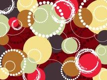 Cerchi variopinti e puntini di retro schiocco illustrazione di stock