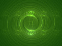 Cerchi verdi Immagine Stock