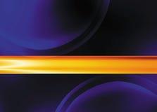 Cerchi viola con la barra inversa arancione attraverso Illustrazione di Stock