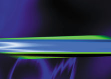 Cerchi viola con la barra inversa di verde blu attraverso Fotografie Stock