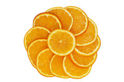 Cerchio arancione Fotografie Stock