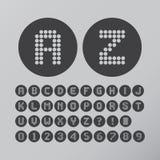 Cerchio astratto Dot Font e numeri illustrazione di stock