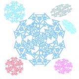 Cerchio astratto, fiocco di neve dai triangoli Bello insieme illustrazione di stock