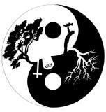 Cerchio in bianco e nero Fotografia Stock