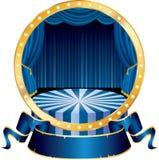 Cerchio blu del circo Fotografia Stock