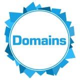 Cerchio casuale blu di forme di dominii Fotografie Stock