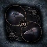 Cerchio celtico del corvo fotografie stock