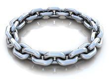 Cerchio chain del metallo sopra Fotografie Stock Libere da Diritti