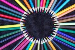 Cerchio colorato della matita immagini stock