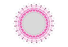 Cerchio concentrico di amore fotografia stock libera da diritti