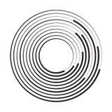 Cerchio concentrico Illustrazione di vettore illustrazione vettoriale