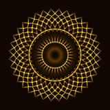 Cerchio cosmico astratto illustrazione vettoriale
