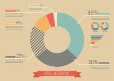 Cerchio d'annata Infographic Fotografie Stock