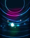 Cerchio d'ardore nello spazio scuro illustrazione vettoriale