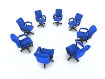 cerchio 3d delle sedie dell'ufficio Fotografia Stock Libera da Diritti
