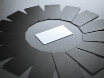 Cerchio dei biglietti da visita in bianco Immagini Stock Libere da Diritti