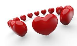 Cerchio dei cuori rossi di amore Fotografie Stock Libere da Diritti