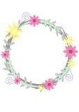 Cerchio dei fiori Fotografia Stock