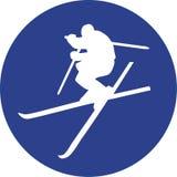 Cerchio del blu di Ski Freestyle illustrazione vettoriale