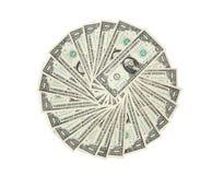 Cerchio del dollaro Immagini Stock Libere da Diritti