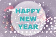 Cerchio del fondo del buon anno Fotografia Stock Libera da Diritti