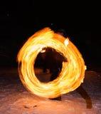 Cerchio del fuoco Fotografia Stock Libera da Diritti