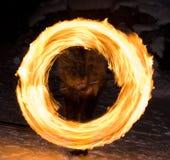 Cerchio del fuoco Fotografie Stock
