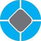 Cerchio del regtangle di gray blu Fotografie Stock Libere da Diritti
