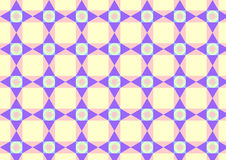 Cerchio del triangolo e modello di Quadrate su colore pastello Fotografia Stock Libera da Diritti