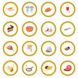 Cerchio dell'icona dell'alimento immagine stock