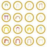 Cerchio dell'icona dell'arco Fotografie Stock Libere da Diritti