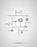 Cerchio dell'icona della medicina Fotografie Stock