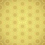 Cerchio dell'oro e modello astratti del romboide su fondo pastello Immagine Stock